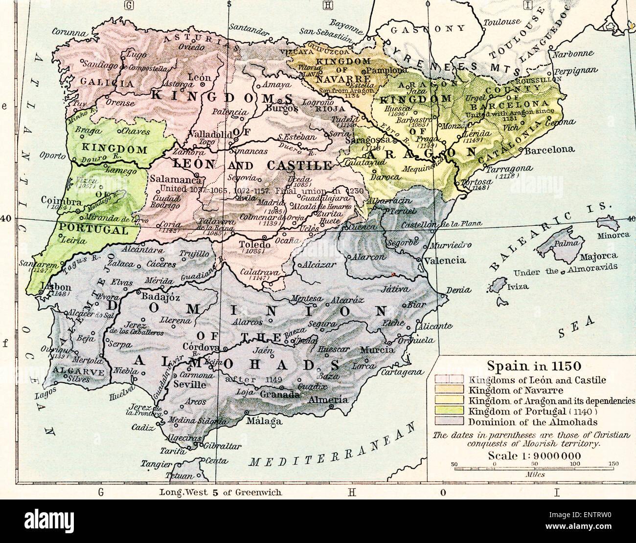 Aragonien Karte