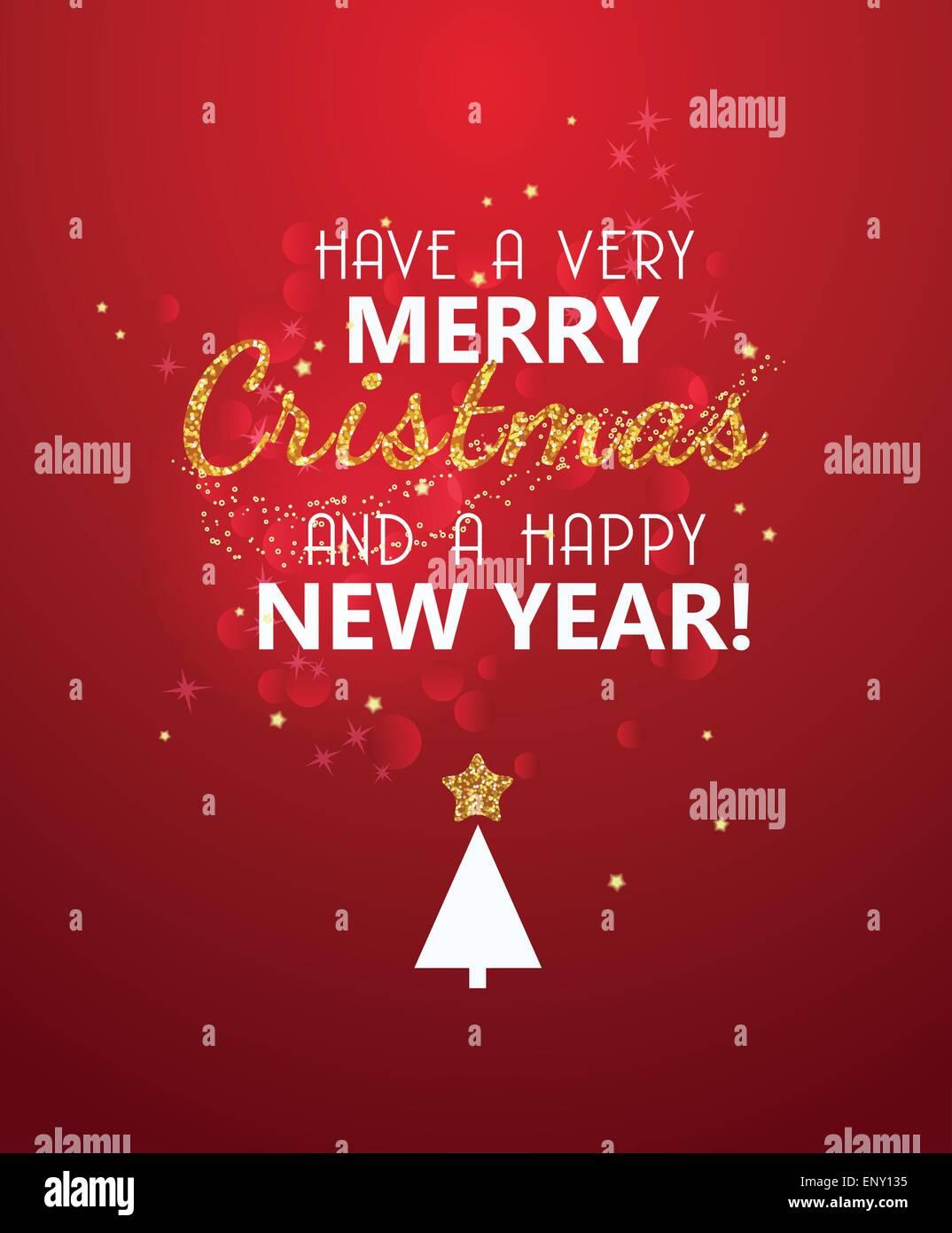 Frohe Weihnachten Glitzer.Frohe Weihnachten Glitzer Nachricht Auf Rot Leuchtenden