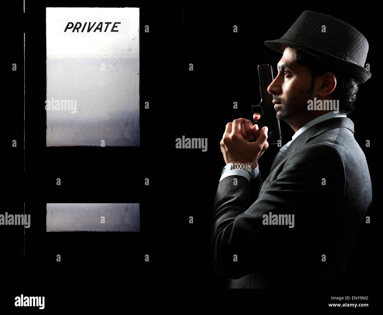 Privatdetektiv Stockbild