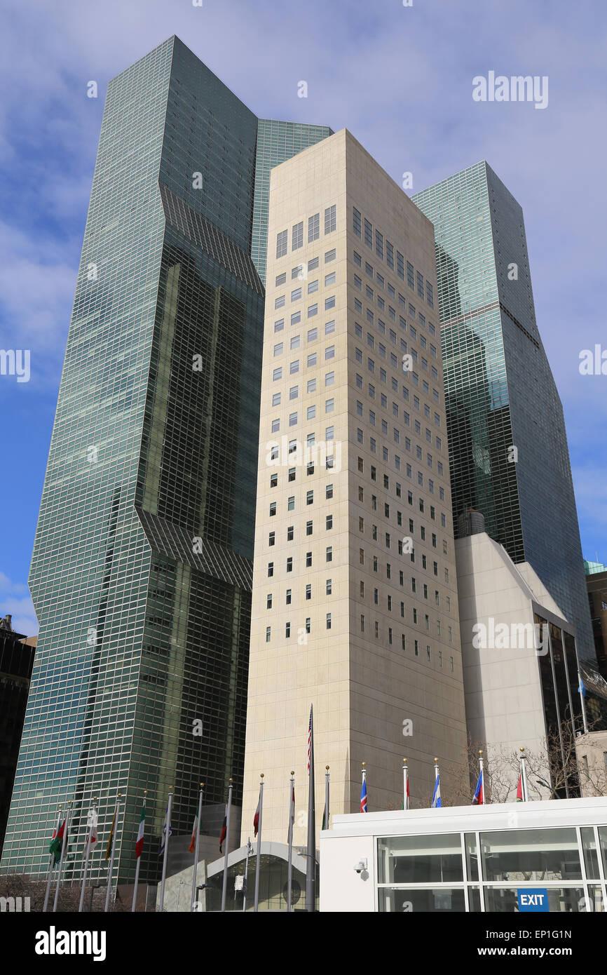 Millennium UN Plaza Hotel in Manhattan, New York City. USA. Stockbild
