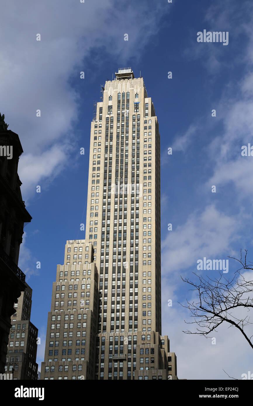 USA. New York City. Lower Manhattan. Wolkenkratzer. Stockbild