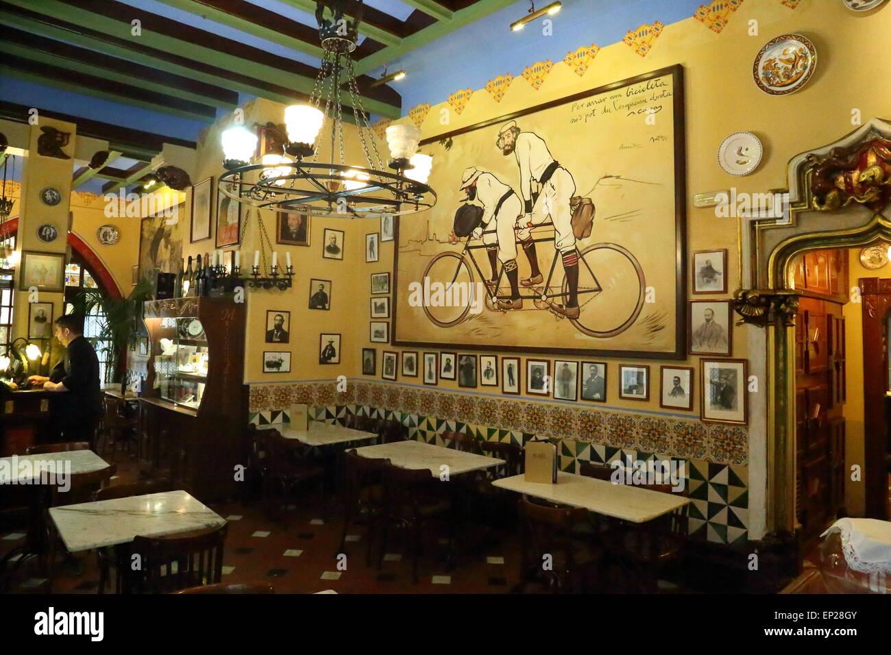 Restaurant Gats Barcelona : The els quatre gats historical cafe restaurant barcelona catalonia