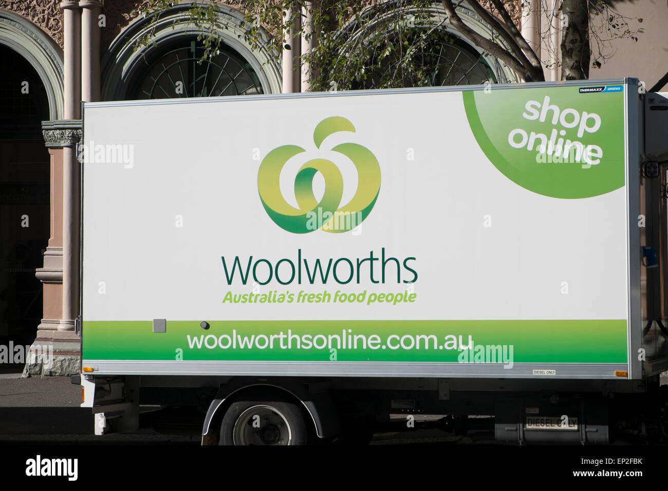 Australische Woolworth Supermarkt Lieferwagen Fur Kunden Die Nach
