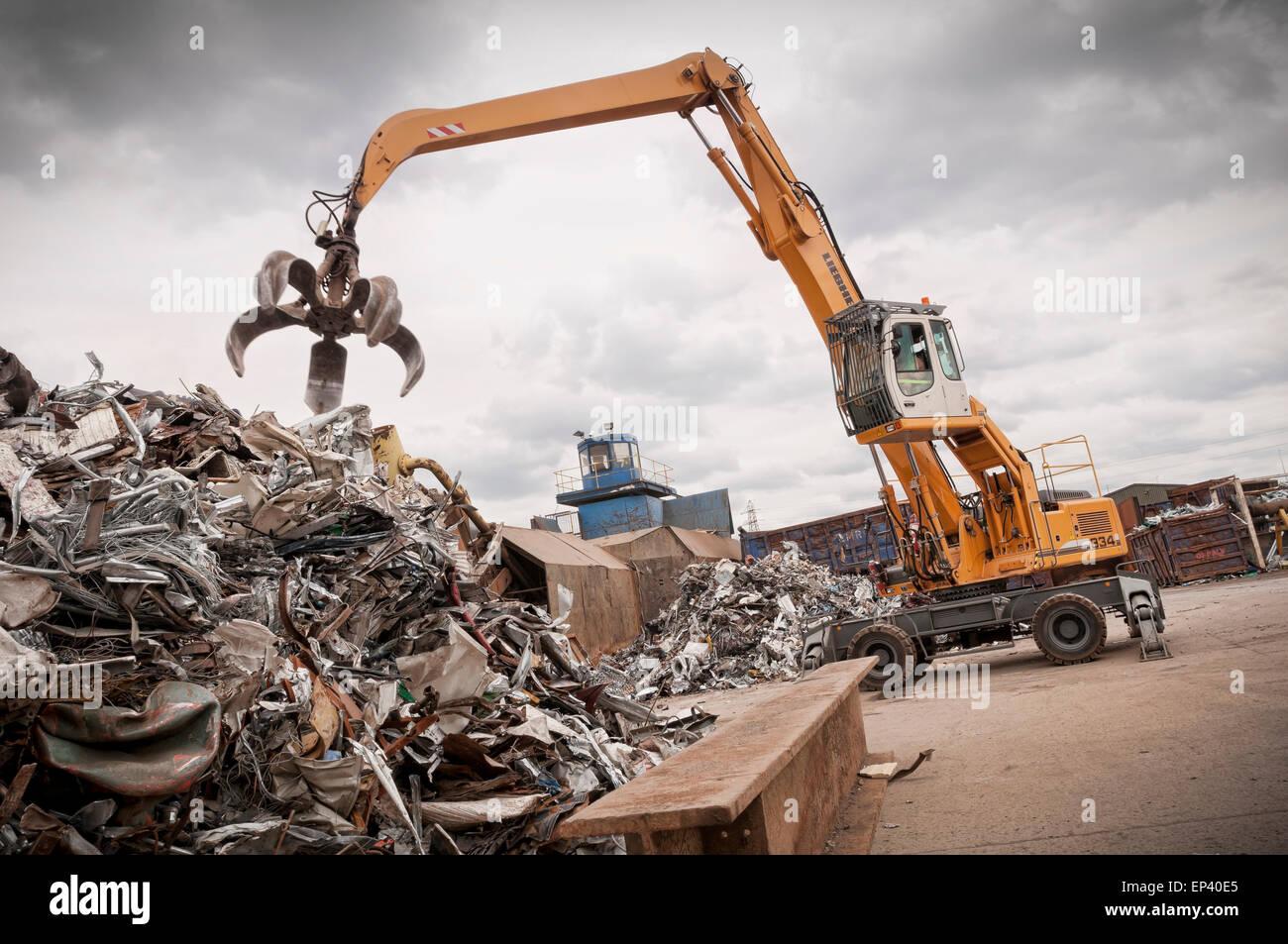 Metall-recycling-Hof Stockbild