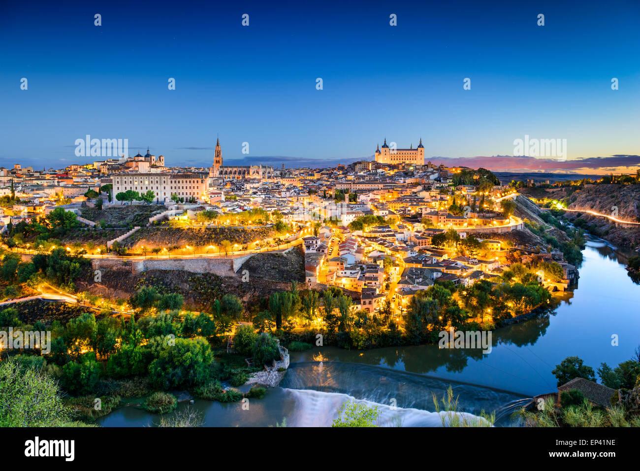 Toledo, Spanien alt Stadt Skyline. Stockbild