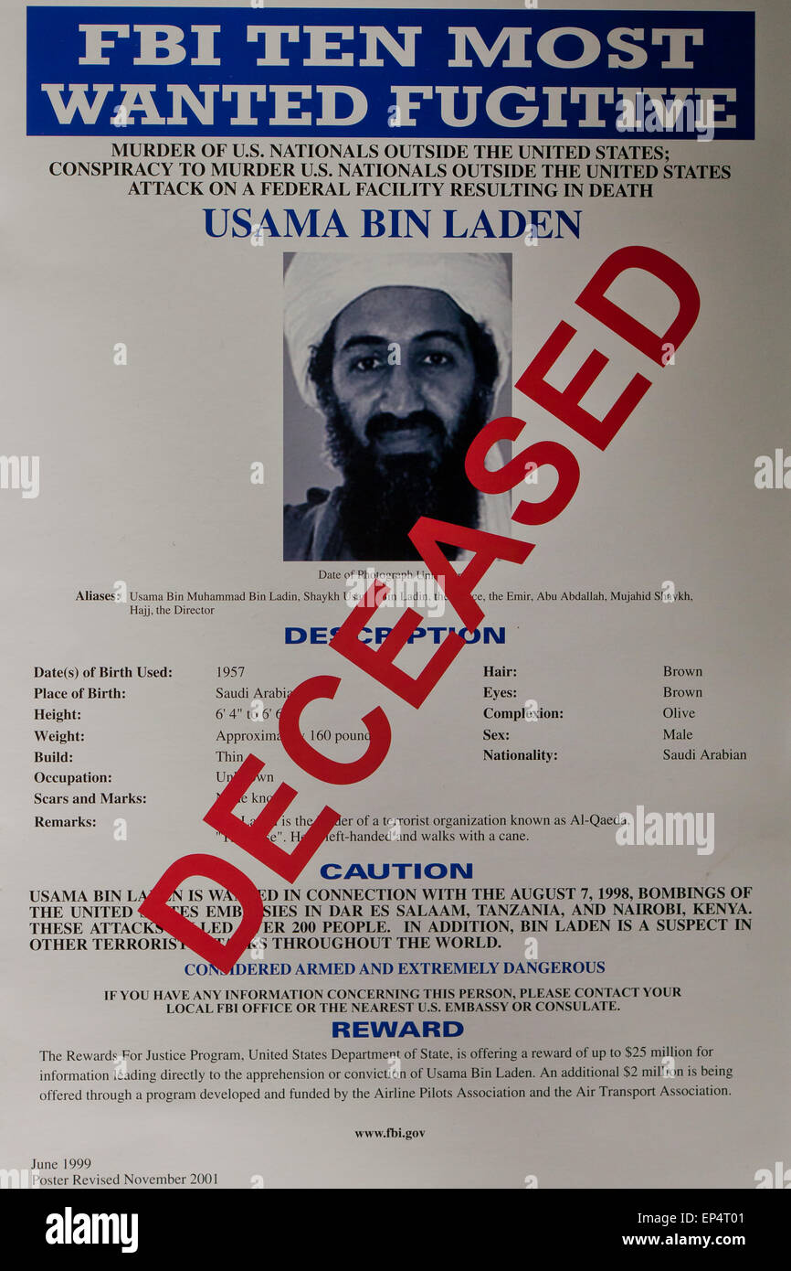 Most Wanted Terrorists Stockfotos & Most Wanted Terrorists