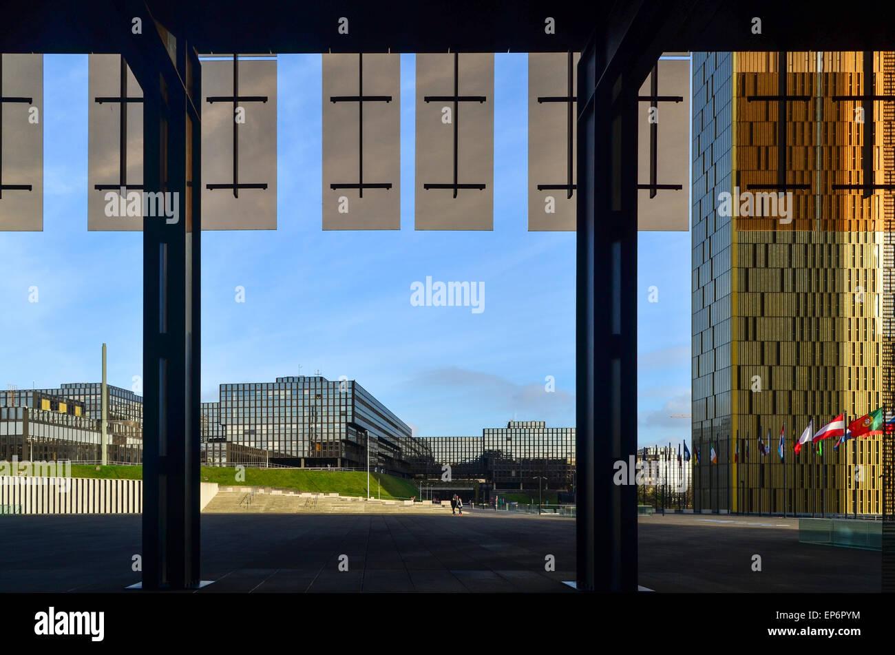 Europäische Kommission vom Gerichtshof der Europäischen Union, in Kirchberg, Luxemburg Stockbild