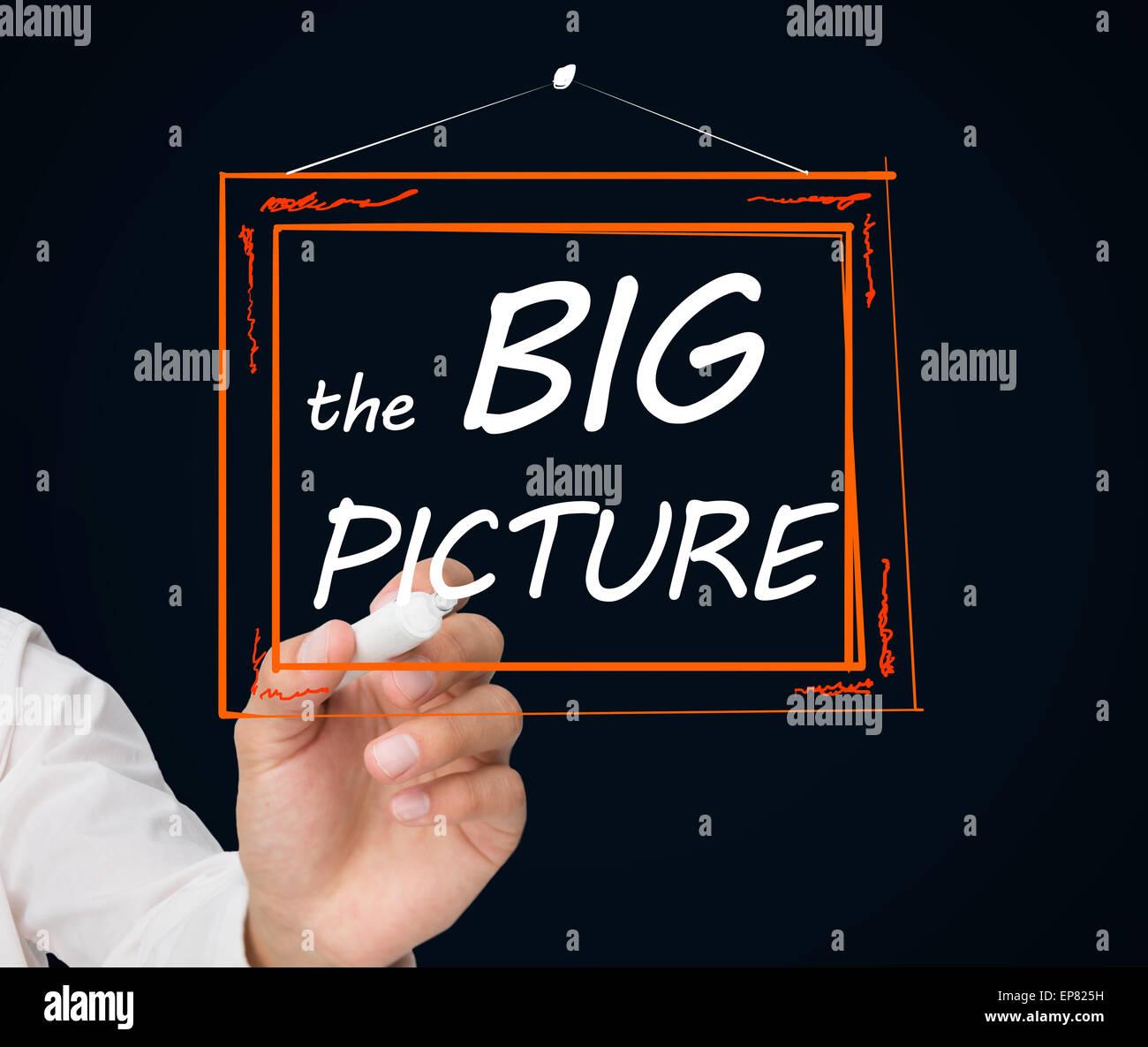 Geschäftsmann Zeichnungsrahmen mit dem großen Bild Text drin ...