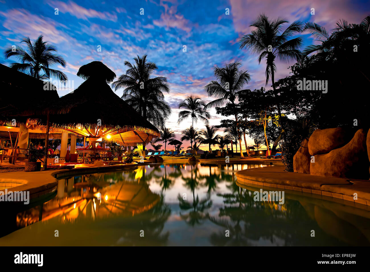 Costa Rica resort Stockbild