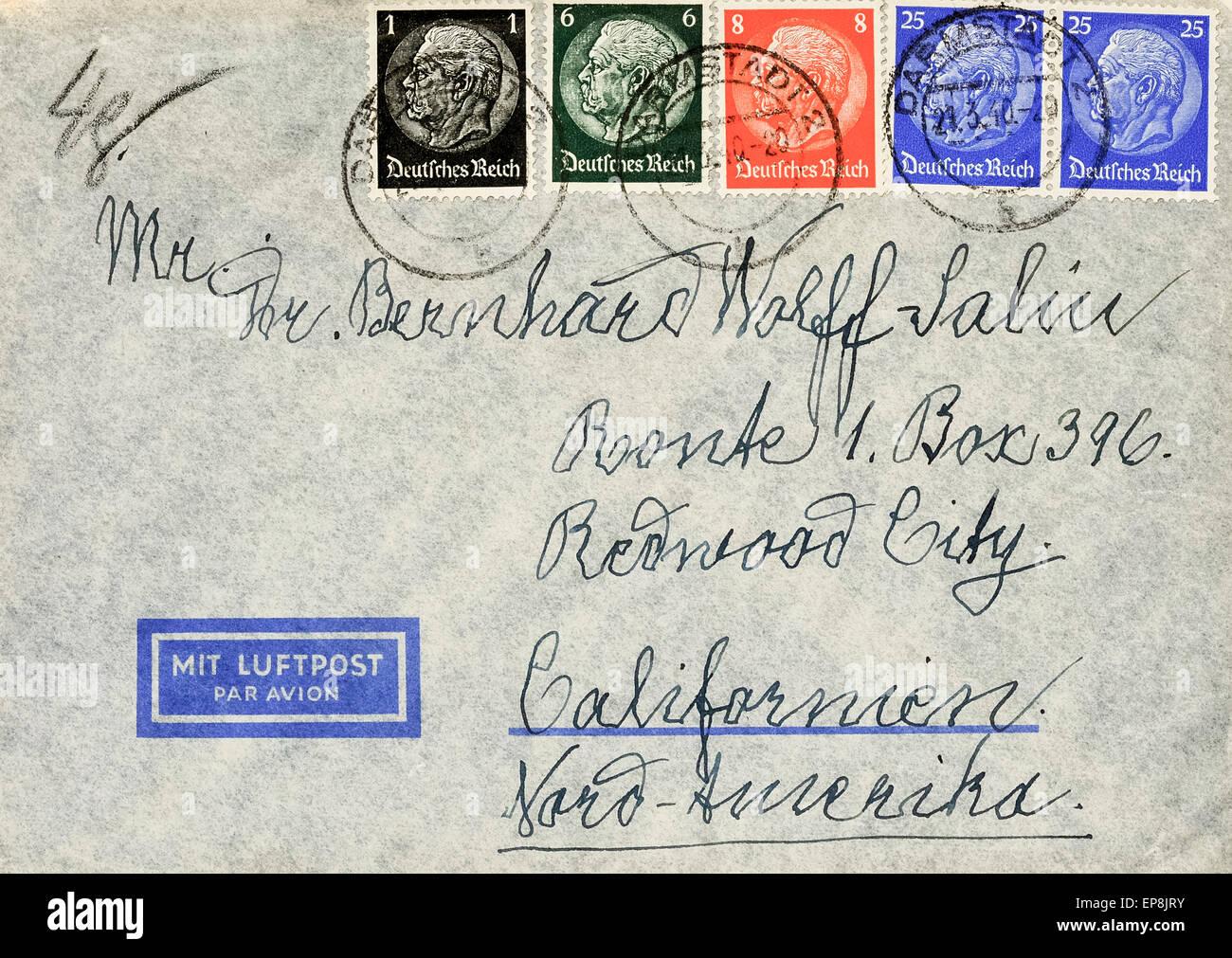 Anfang Des 20 Jahrhunderts Deutsche Luftpost Brief Aus Darmstadt