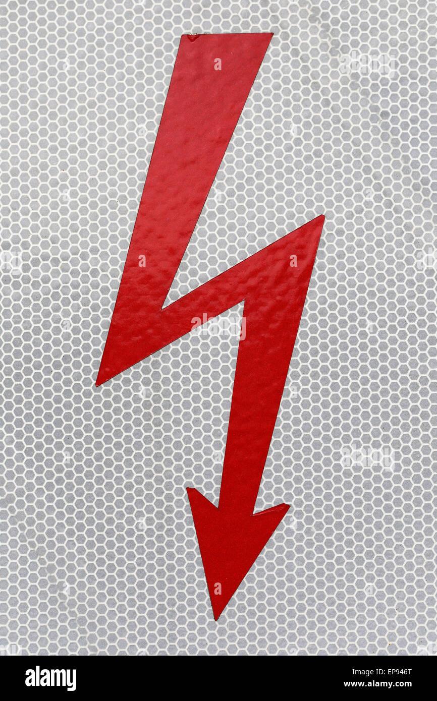 Symbol-Blitz-Hochspannung Stockbild
