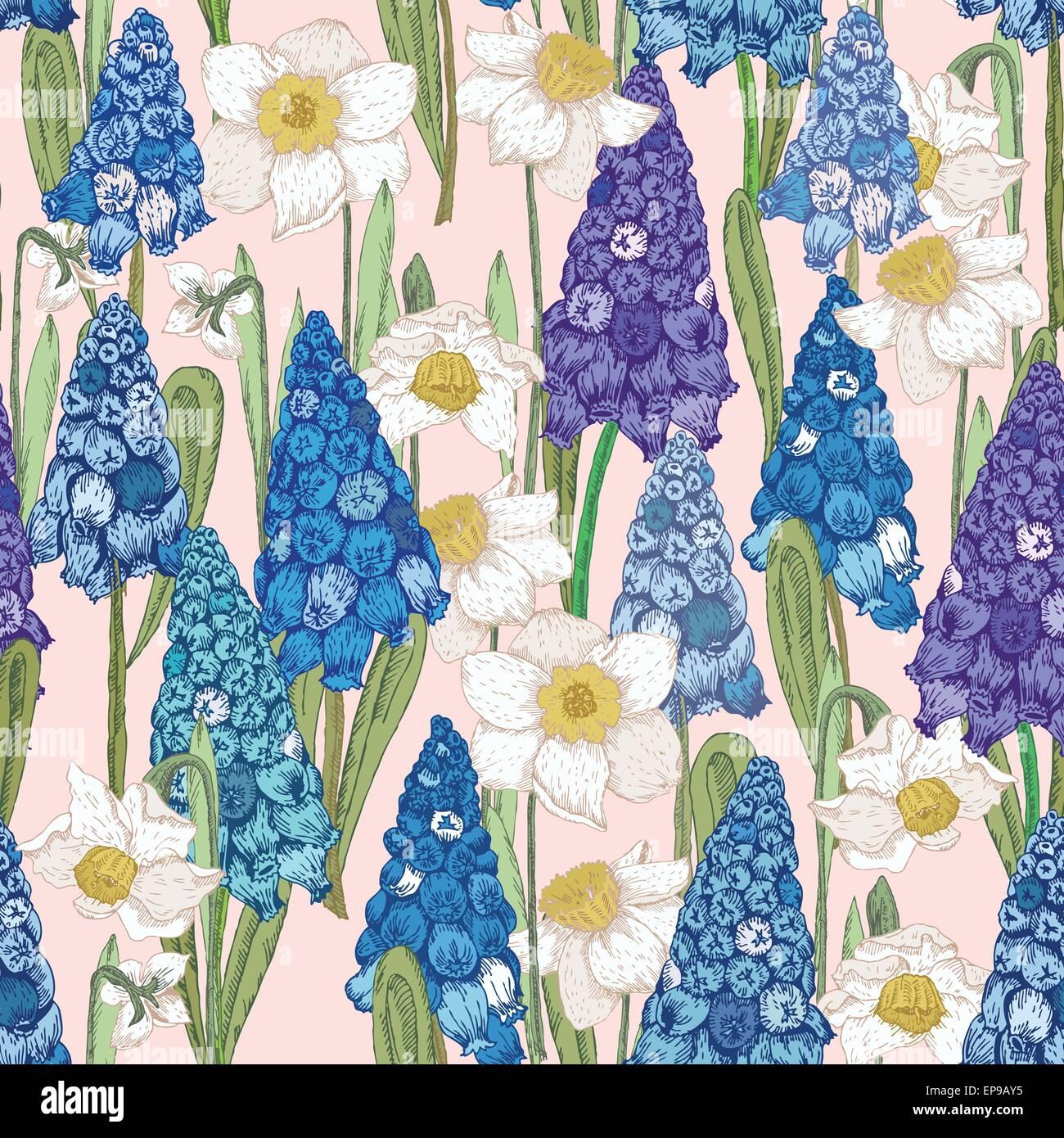 Frühling Blumen Hyazinth Hyacinth Grußkarte Für März 8 Plakat