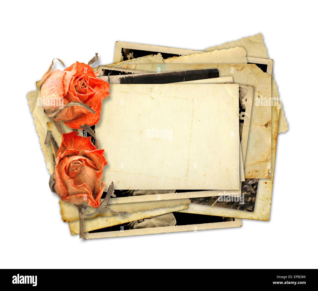 Briefe Mit Häftlingen : Haufen von alten fotos und briefe mit bouquet