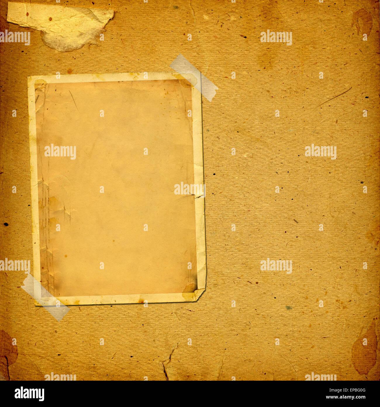 Alte Vintage Album mit Papier Rahmen für Fotos Stockfoto, Bild ...