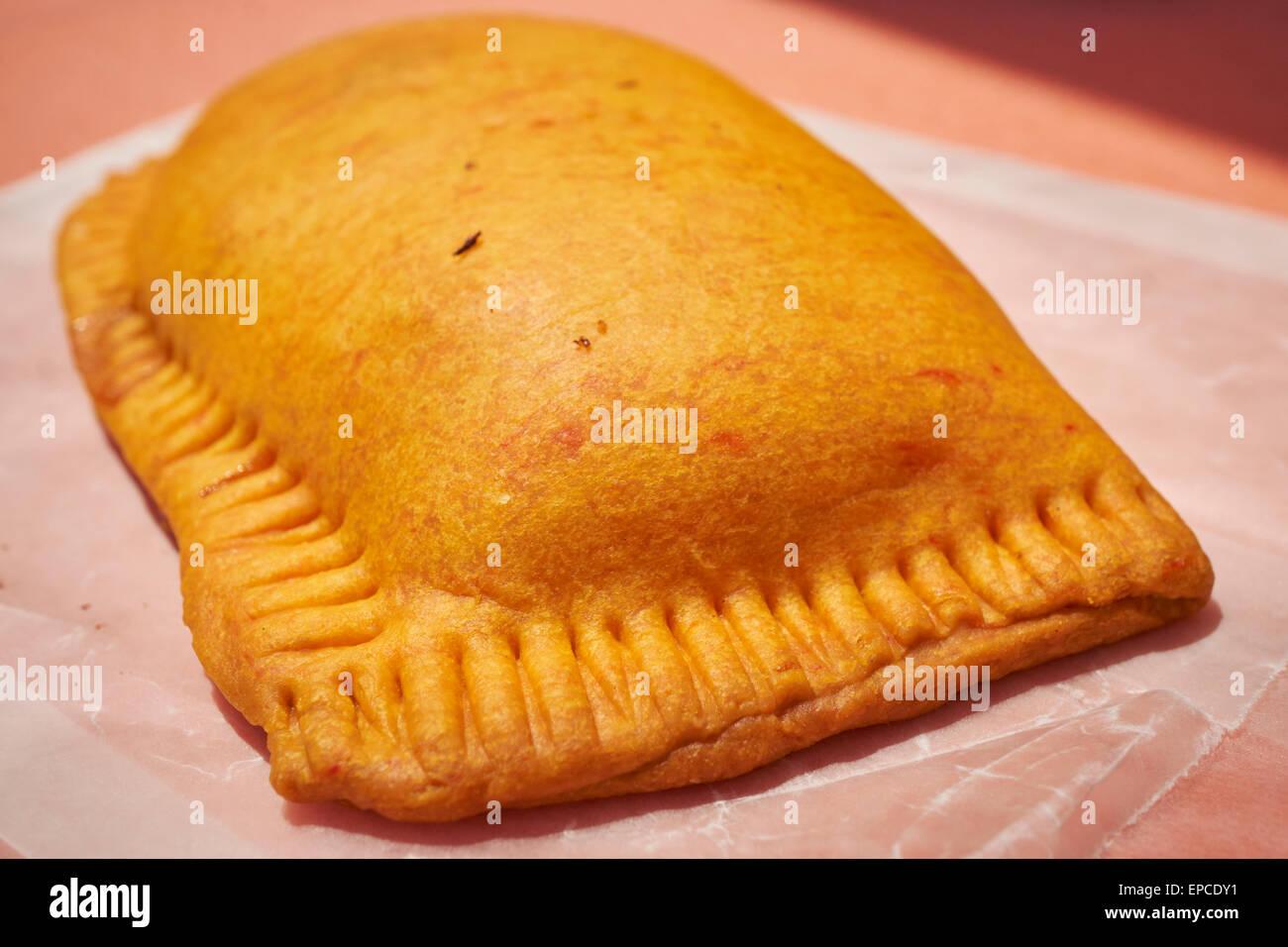 Jamaikanische Rindfleisch patty Stockbild