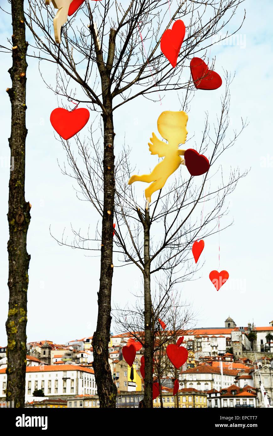 Portugal, Porto. Zum Valentinstag Stockbild