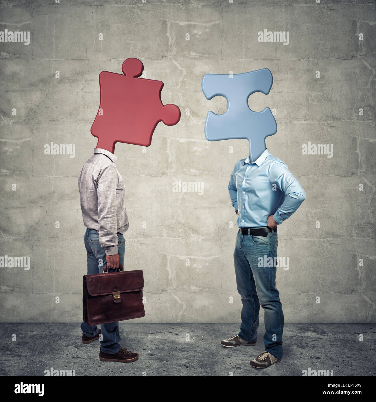 abstraktes Bild von Menschen Affinität Geschäftskonzept Stockbild