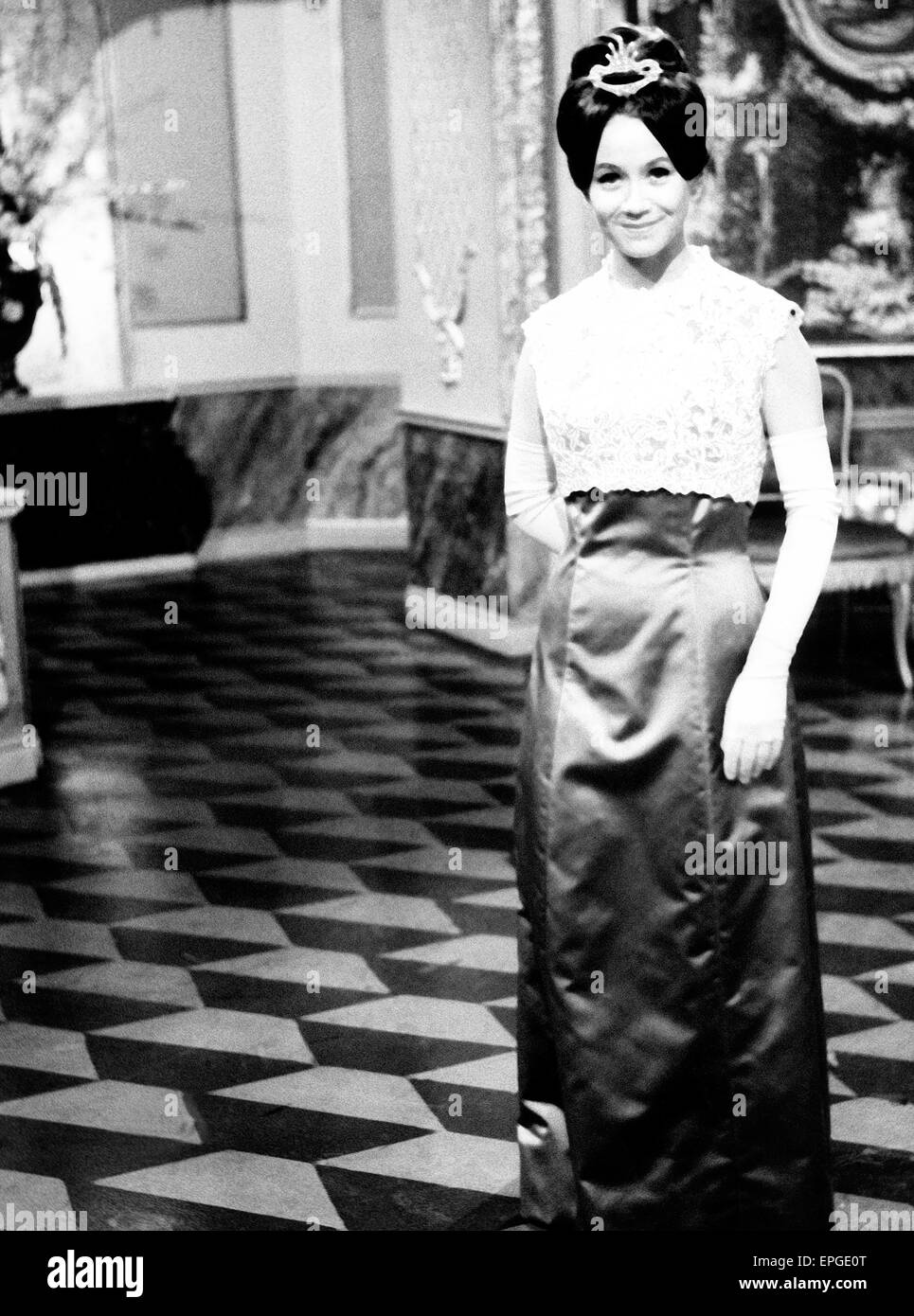 Deutsche Plant und Sängein Lotti Krekel, 1960er Jahre. Die deutsche Schauspielerin und Sängerin Lotti Stockbild