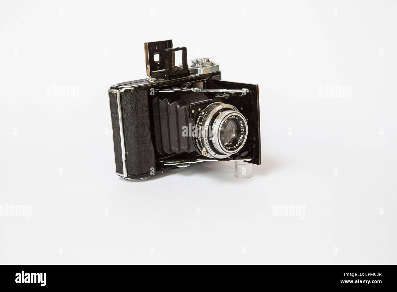 Zeiss Icon Ikonta 521 deutsche Kamera ca. 1940 faltbare Kamera mit Sucher und unter 120 film Stockbild