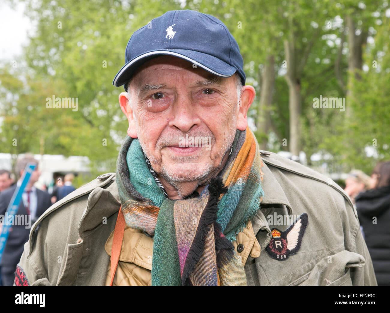 David Bailey, legendären Fotografen und Filmaker im RHS Chelsea Flower show 2015 Stockbild