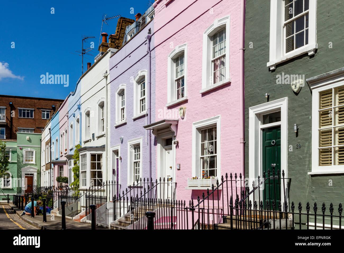bunte h user von k nig der stra e chelsea london england stockfoto bild 82843395 alamy. Black Bedroom Furniture Sets. Home Design Ideas