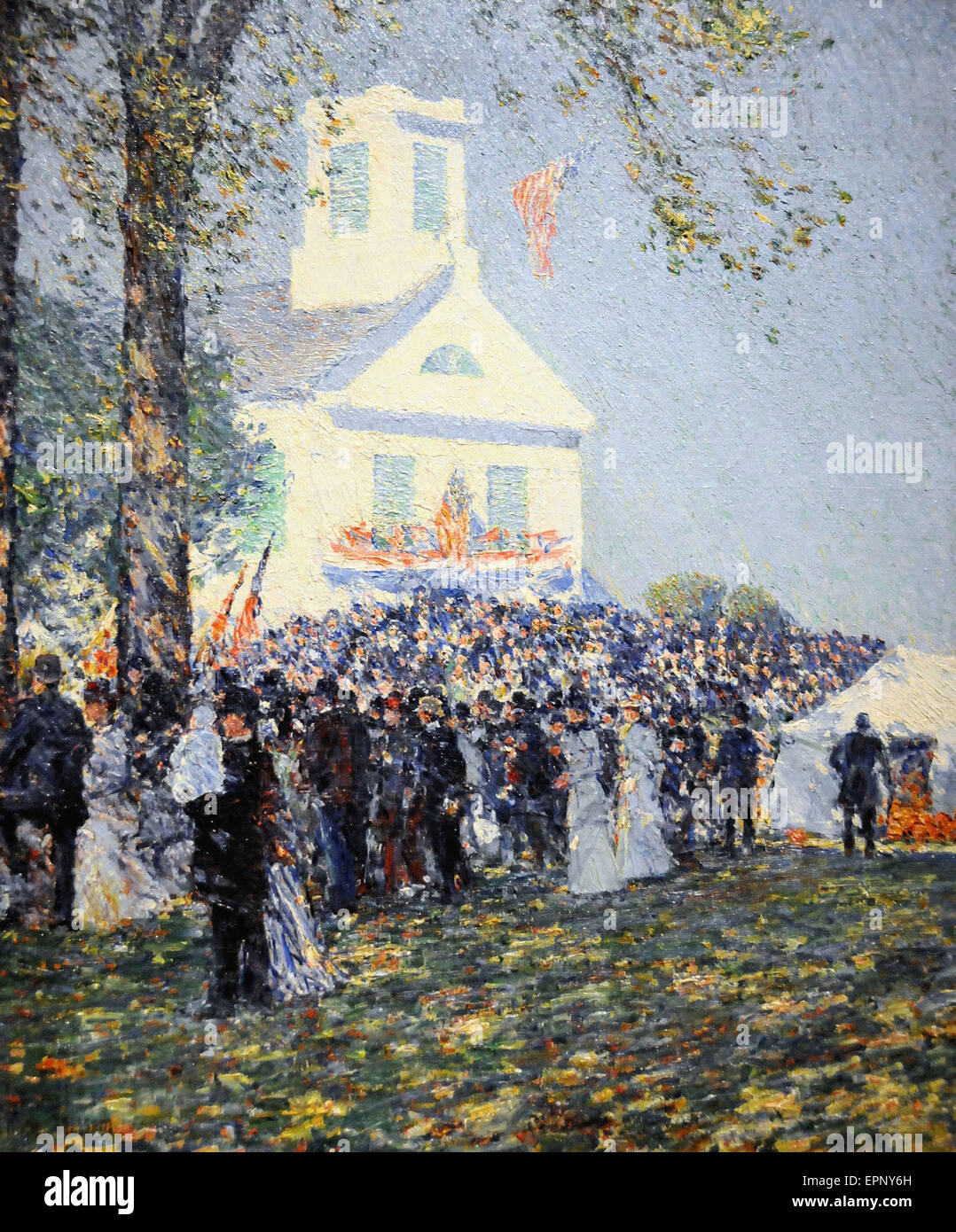 Childe Hassam Country Fair, Neu-England Stockbild