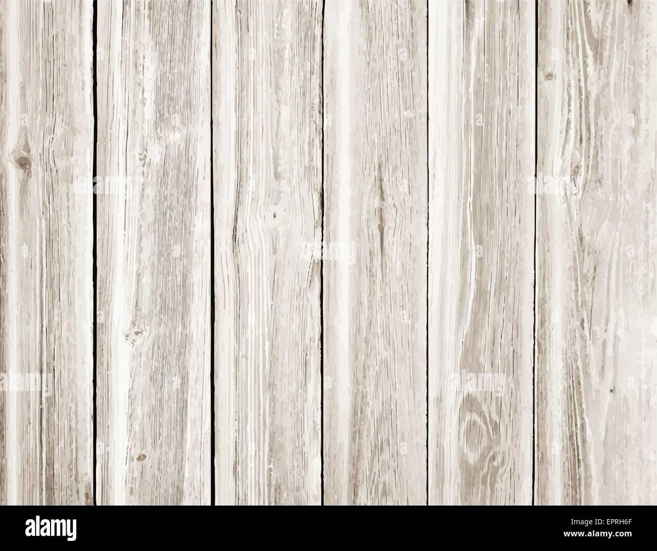 Weisse Holzwand Tisch Boden Leichte Holzstruktur Vektor Abbildung