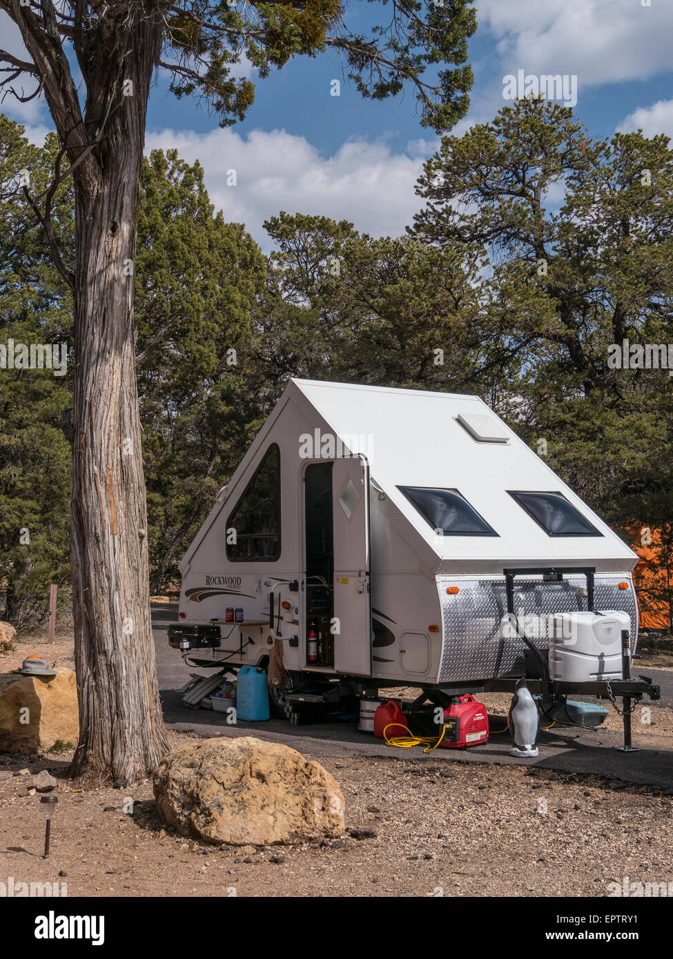 A-Frame Wohnwagen in Mather Campground, South Rim, Grand Canyon ...