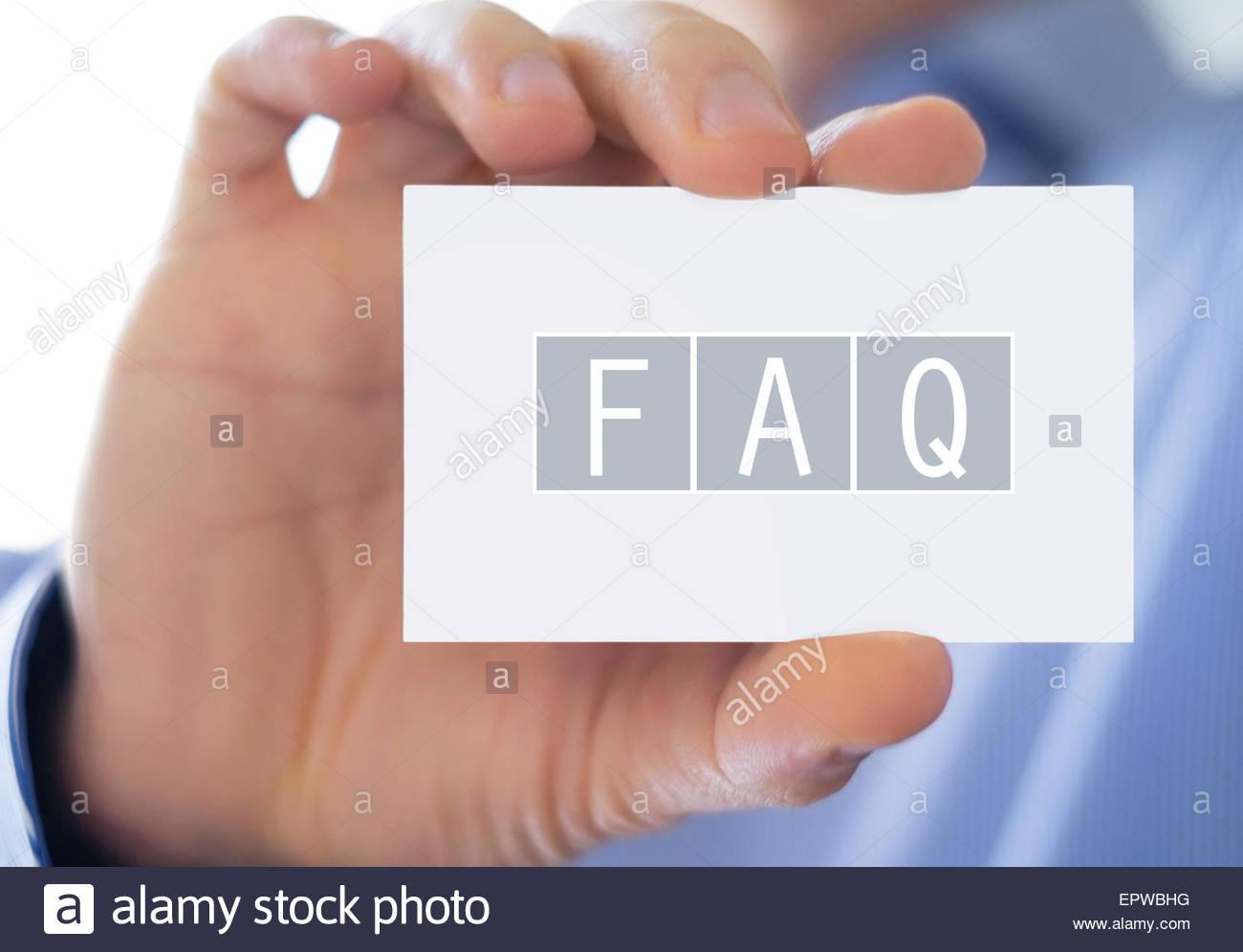FAQ - häufig gestellte Fragen Stockbild