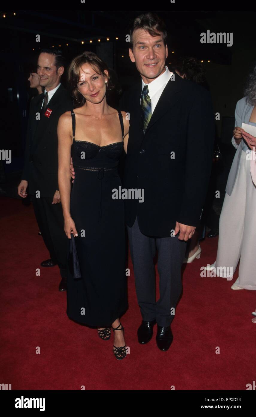Patrick Swayze Mit Jennifer Greydirty Dancing Premiere In Los