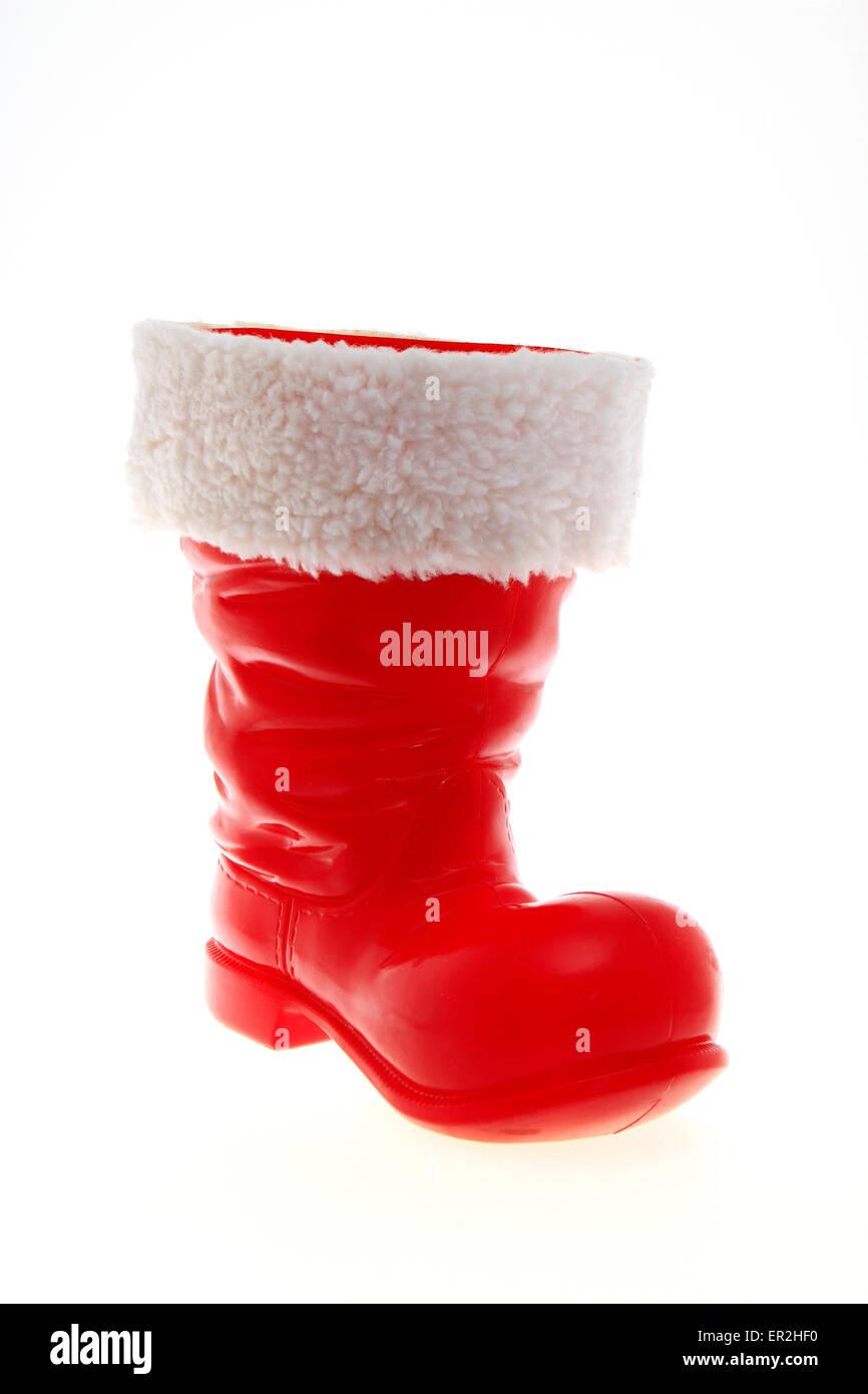 Roter Nikolausstiefel Stockbild