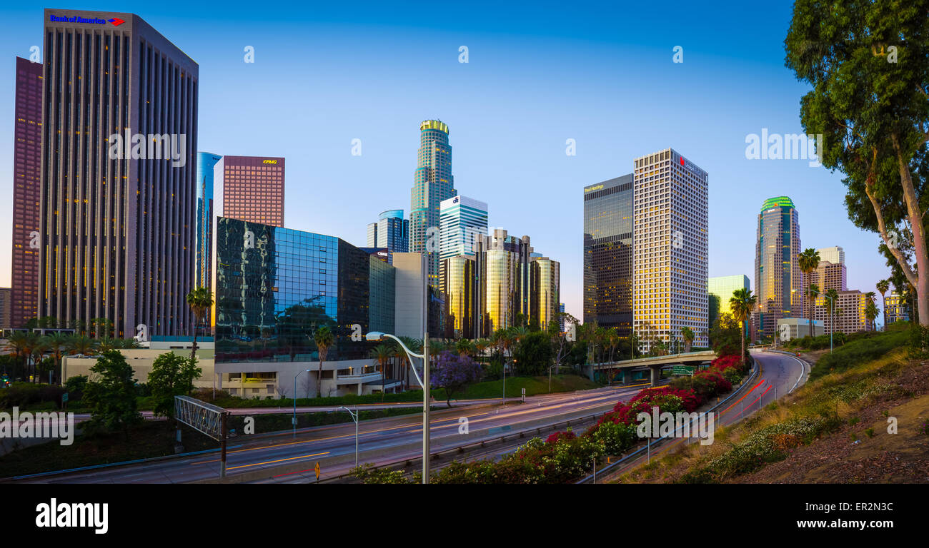 Los Angeles, häufig bekannt durch seine Initialen L.A., ist die bevölkerungsreichste Stadt im US-Bundesstaat Stockbild