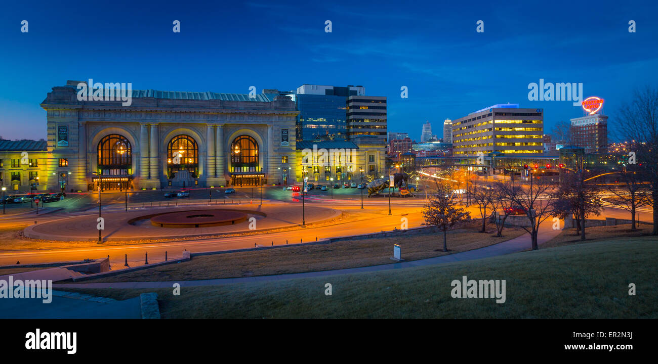 Kansas City (oft als K.C) ist die bevölkerungsreichste Stadt im US-Bundesstaat Missouri. Stockbild