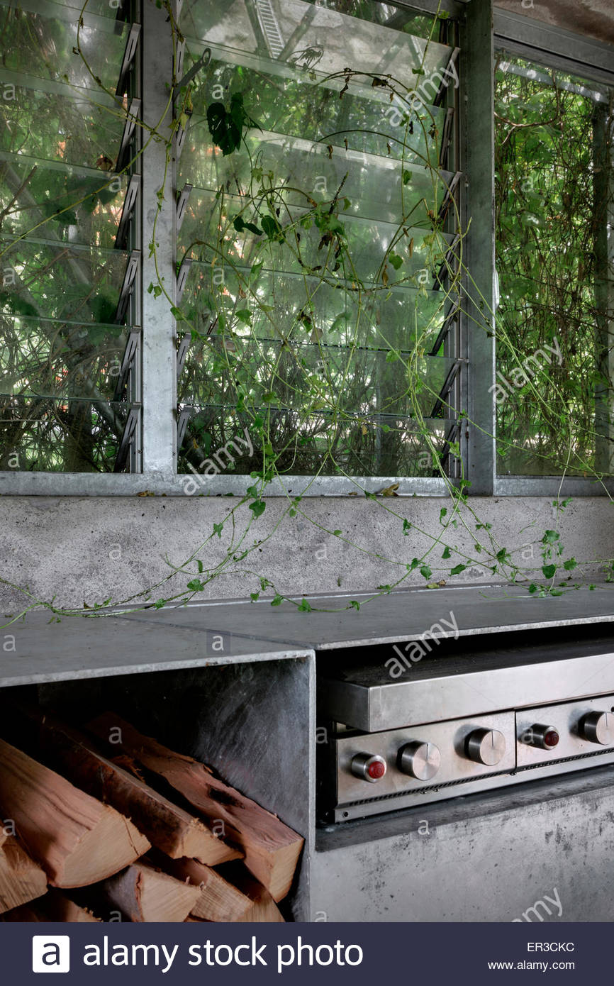 Captivating Kletterpflanzen Am Küchenfenster In Green Box Konvertiert Renovierten Garage,  Cerido, Morbegno, Lombardei, Italien Garten Zimmer, Garage,