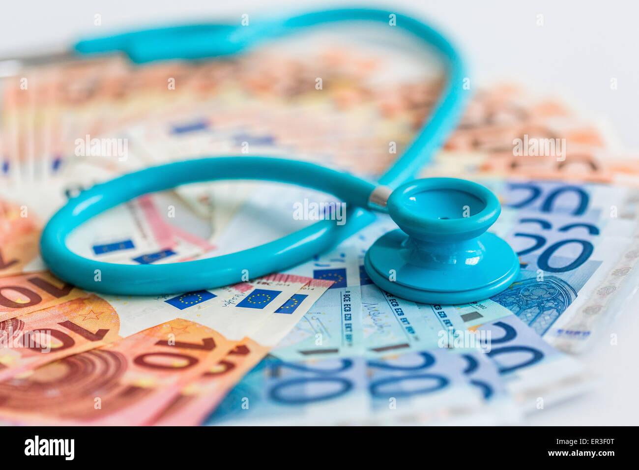 Medizinische Geld. Stockbild