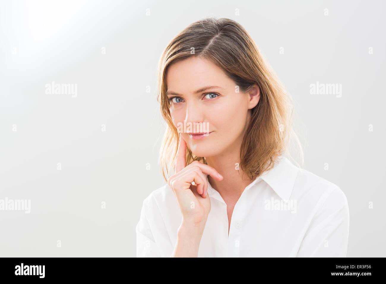 Porträt einer Frau. Stockbild