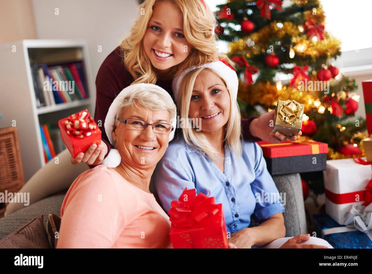 Tochter, Mutter und Oma Stockfoto