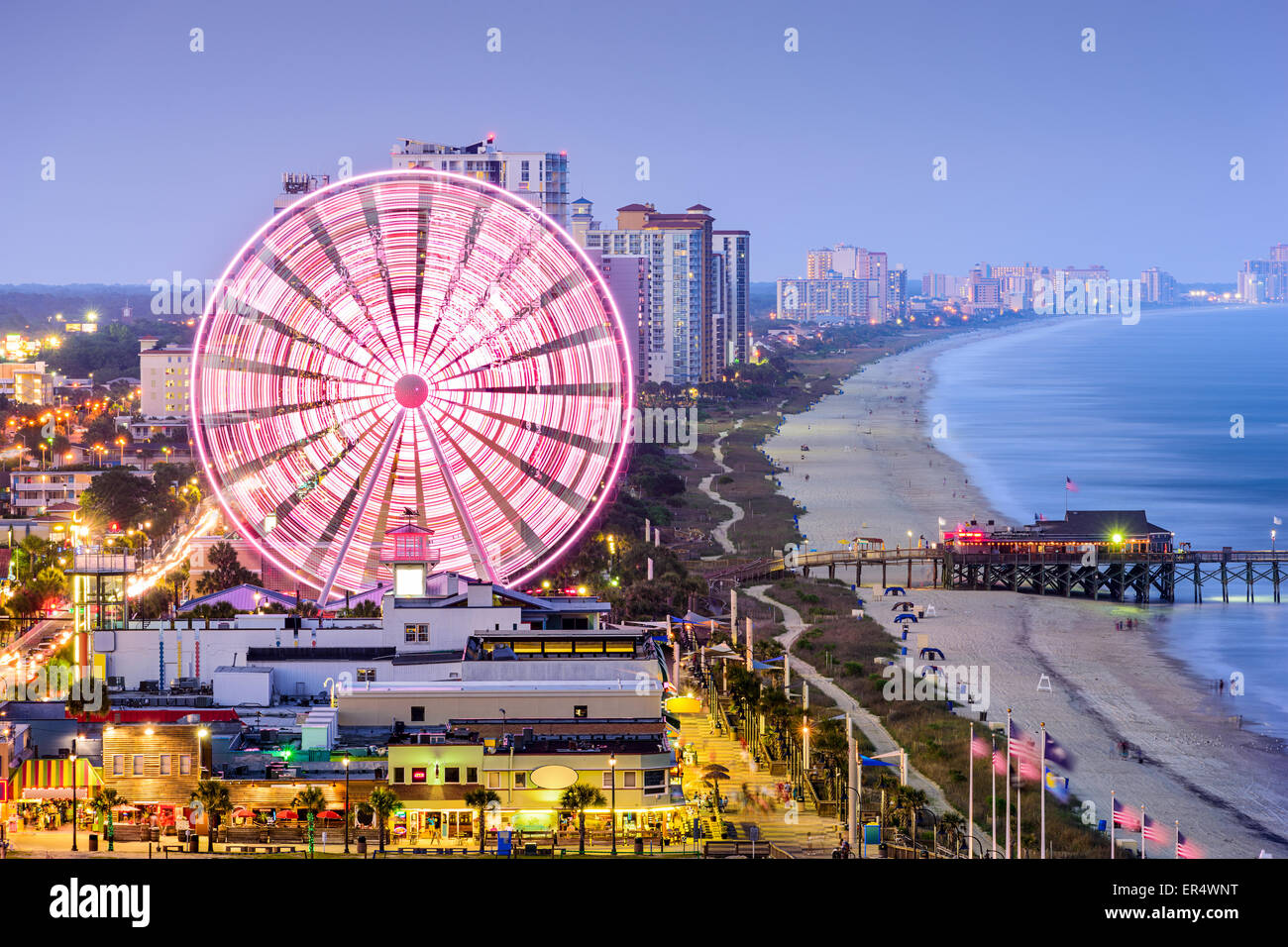Skyline von Myrtle Beach, South Carolina, USA. Stockbild