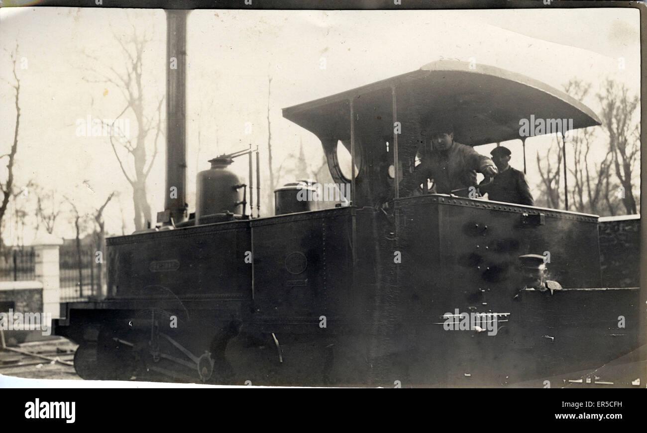 Unbekannte Dampflok.  1910er Jahre Stockbild