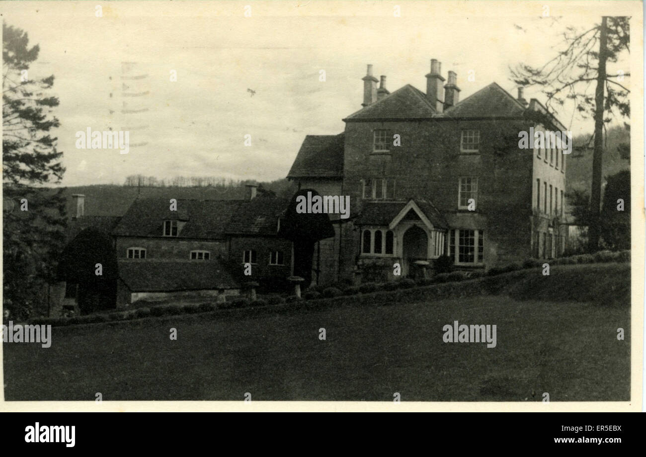 Schönes Haus, Stroud, Gloucestershire, England.  1943 Stockbild