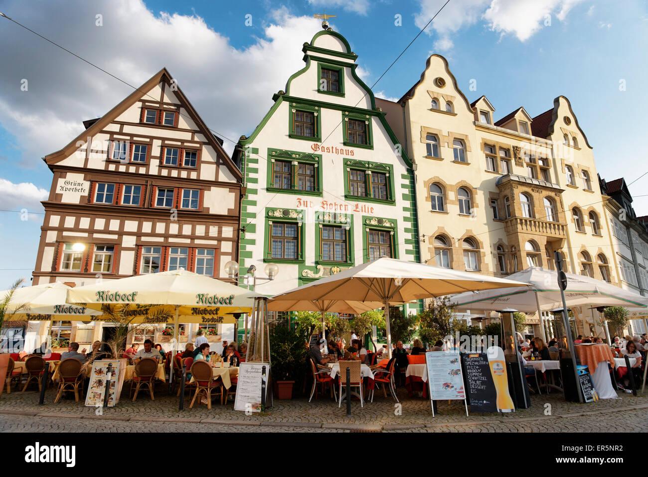 Domplatz, Domplatz, Erfurt, Thüringen, Deutschland Stockbild