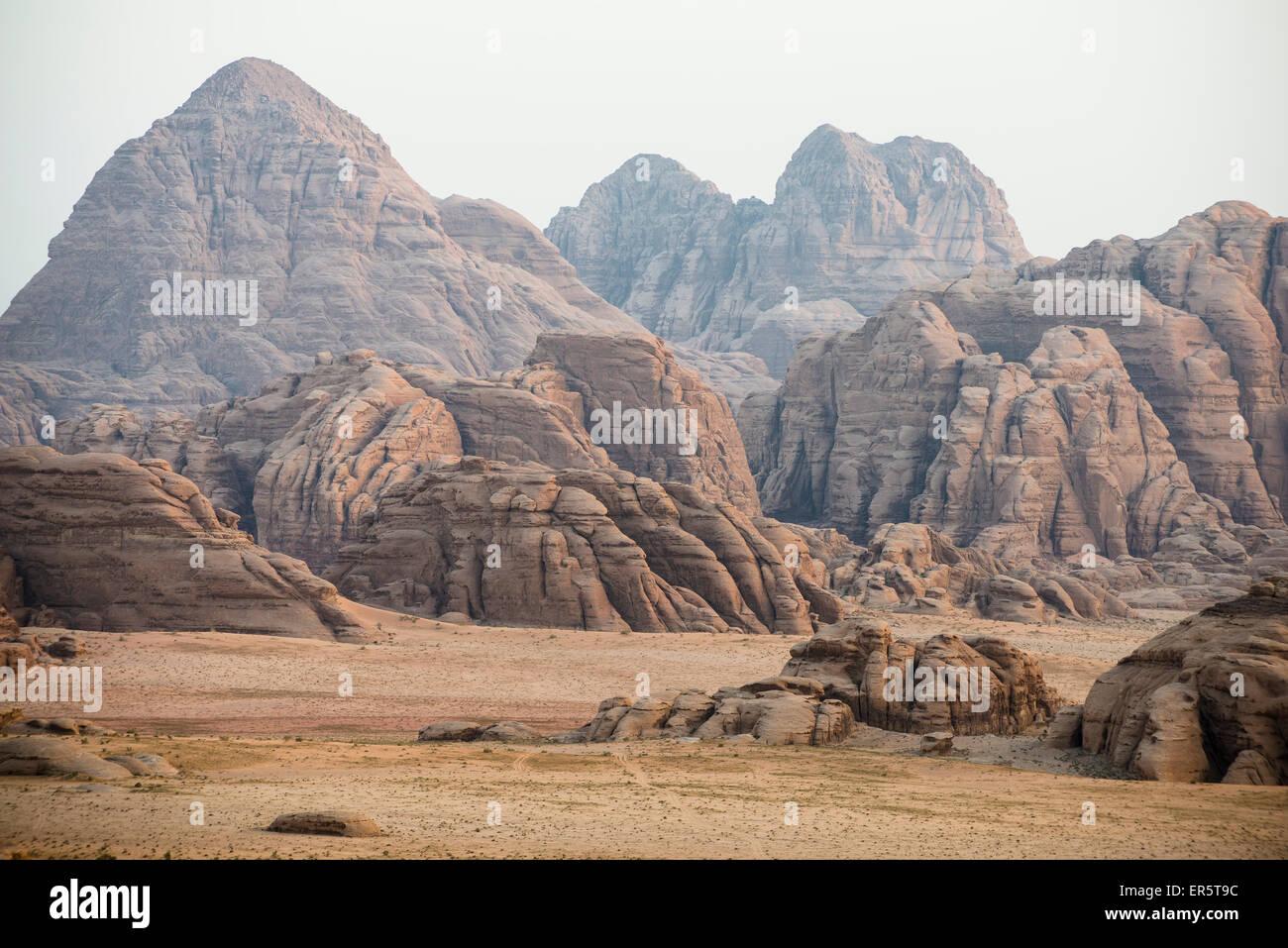Rock Fromations, Wadi Rum, Jordanien, Naher Osten Stockbild