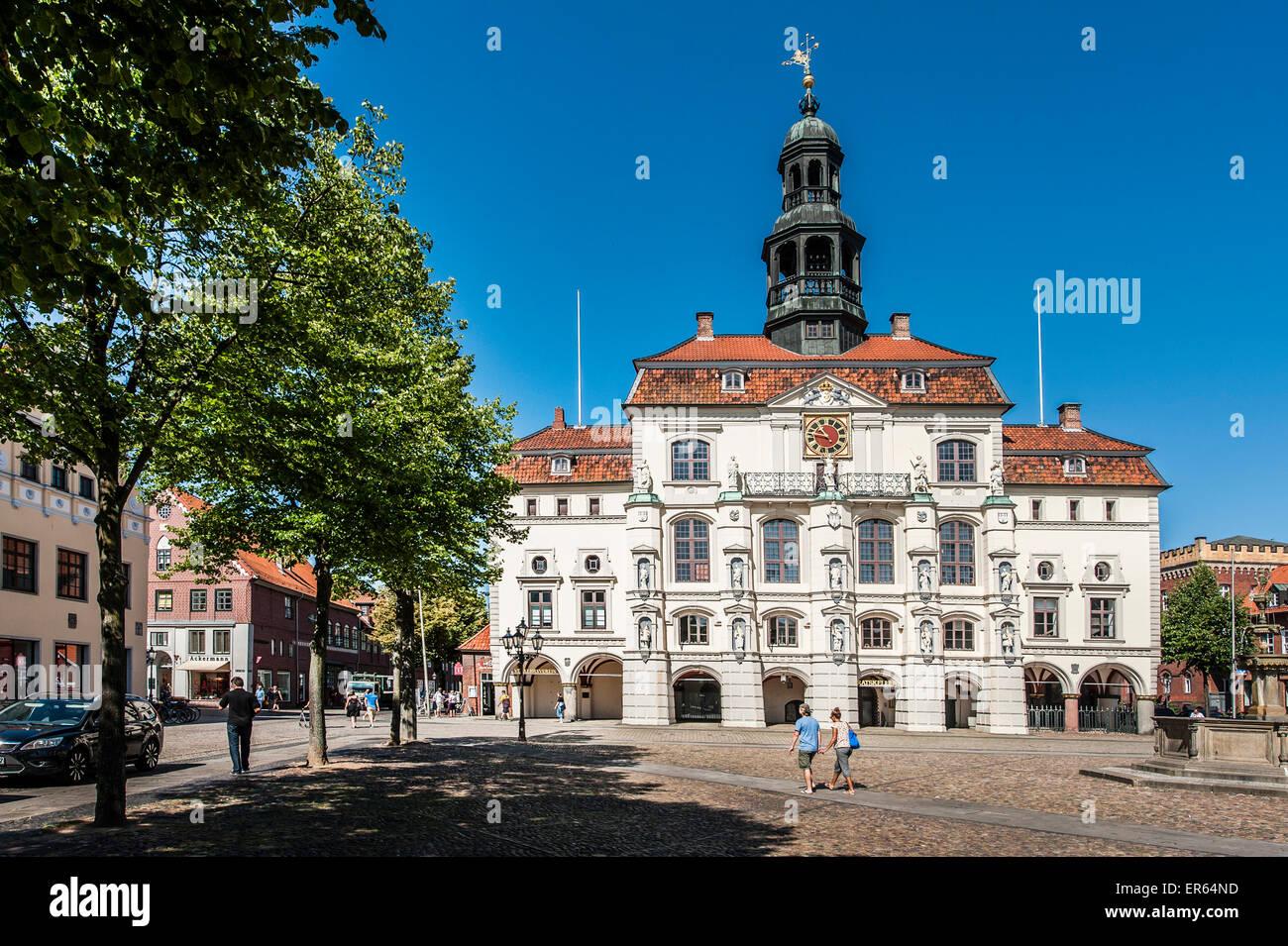 Historischen Rathaus Lüneburg, Niedersachsen, Germany Stockbild