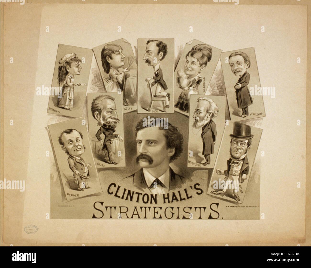 Clinton Hall Strategen. Datum c1879. Stockbild