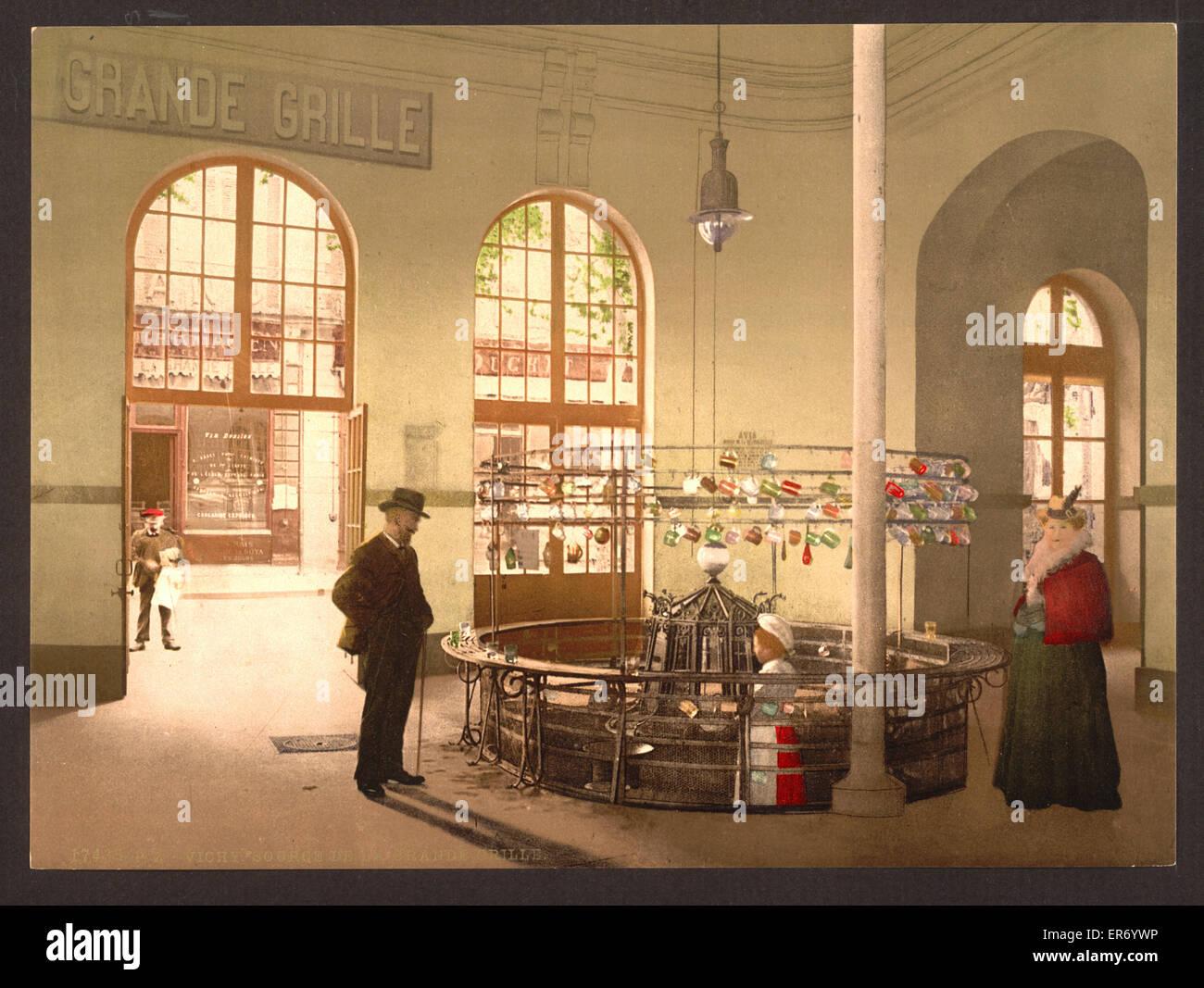 Quelle De La Grande Grille, (Getränk Hall), Vichy, Frankreich. Bis ...