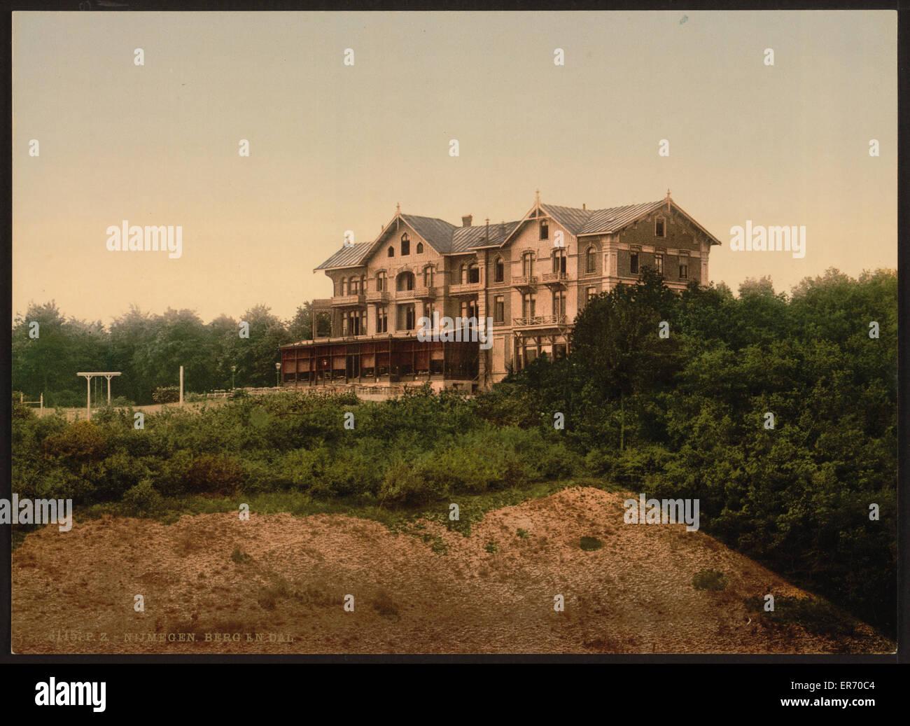 Das Hotel Berg En Dal, Nimwegen (d.h. Nijmegen), Holland. Bis ca. 1890 ca. 1900 bis heute. Stockbild