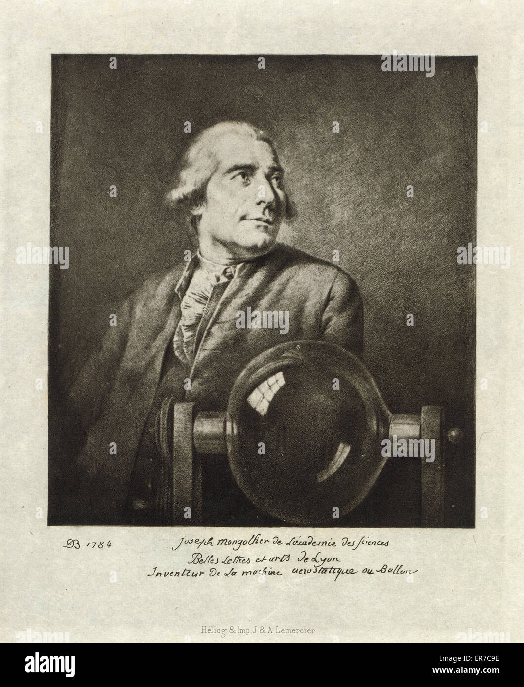 Joseph Montgolfier de Akademie des Sciences, Belles-Lettres, et Artes de Lyon, Inveniteur De La Machine Aerostatique Stockbild