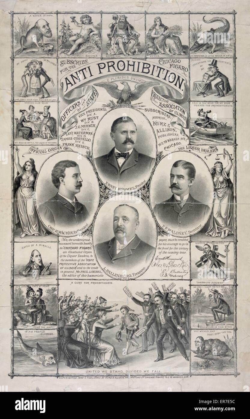 Anti-Verbot. Datum c1888 Okt. 12. Stockbild