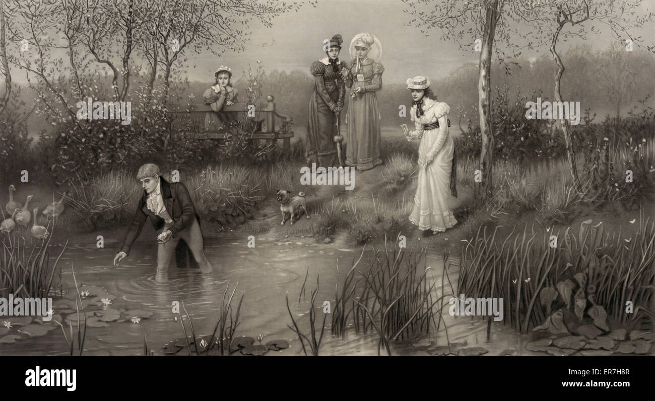 Das Alter der Galanterie. Datum c1881. Stockbild