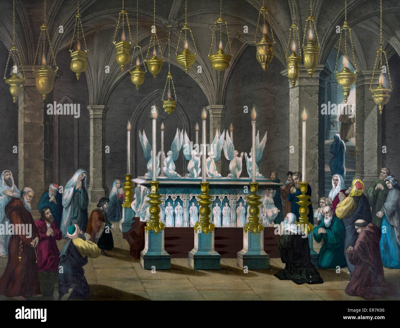 Das Grab Christi. Stockbild